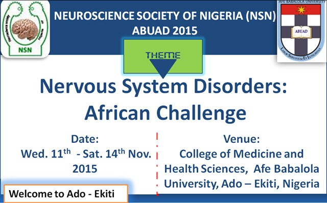Neuroscience Society of Nigeria (NSN) ABUAD 2015